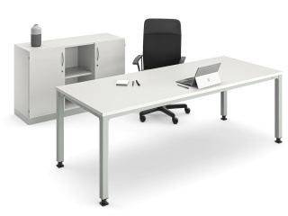 Quadrat50 »RMQ« | Tisch, Stuhl und Schrank als Gruppe